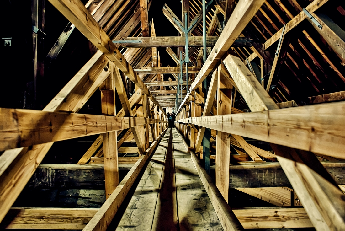 timber-framed pathway